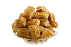 Bourekas pile in glass bowl Royalty Free Stock Photography