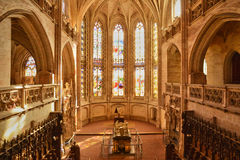 Bourg en Bresse, France - april 4 2015 : the monastery of Brou Royalty Free Stock Photo
