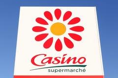 Casino supermarket logo on a panel