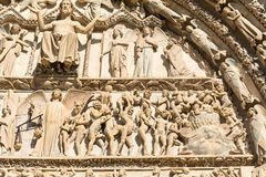 Bourges cathedral entrance, France. Entrance of the christian gothic cathedral of Bourges, France royalty free stock photography