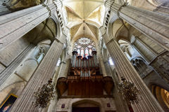 Bourges Cathedral - France. Bourges, France - May 21, 2017: Bourges Cathedral, Roman Catholic church located in Bourges, France. It is dedicated to Saint Stephen royalty free stock photography