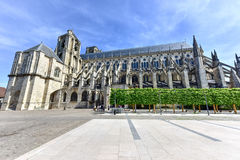 Bourges Cathedral - France. Bourges Cathedral, Roman Catholic church located in Bourges, France. It is dedicated to Saint Stephen and is the seat of the Stock Photos