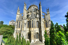Bourges Cathedral - France. Bourges Cathedral, Roman Catholic church located in Bourges, France. It is dedicated to Saint Stephen and is the seat of the stock image