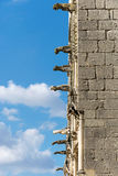 Bourges cathedral gargoyles, France. Gargoyles of the gothic roman catholic cathedral of Bourges, France Royalty Free Stock Photos