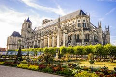 Bourges, France. Bourges Cathedral, a Roman Catholic church located in Bourges, France, dedicated to Saint Stephen royalty free stock photo