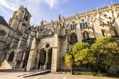 Bourges, France. Bourges Cathedral, a Roman Catholic church located in Bourges, France, dedicated to Saint Stephen stock images
