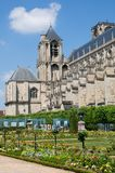 Bourges, France. The garden and the Cathedral Saint-Etienne in  Bourges,France Royalty Free Stock Photography
