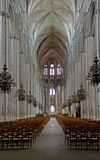 Bourges, France. Interior gotique Cathedral Saint-Etienne of Bourges,France royalty free stock photography