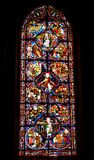Bourges, France. Stained glass window in gotique Cathedral Saint-Etienne of Bourges,France royalty free stock images