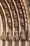 Bourges Francja Katedralni gargulece Zdjęcia Royalty Free