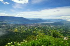 Bourget lake. View of the bourget lake and aix les bains in savoie in french alps Stock Images