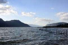 Bourget lake and mountains Stock Photography