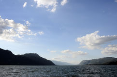 Bourget lake and mountains Royalty Free Stock Image