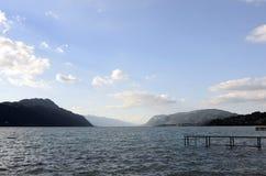 Bourget sjö och berg Royaltyfri Fotografi