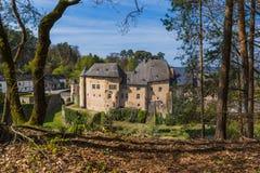 Bourglinster城堡在卢森堡 免版税库存照片