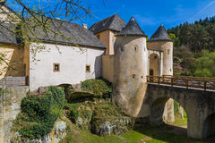Bourglinster castle in Luxembourg Royalty Free Stock Photos