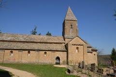 Bourgogne, το γραφικό χωριό Brancion στο saone et Loire Στοκ Φωτογραφίες