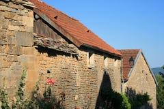 Bourgogne - alte Straße Stockbilder