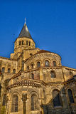 Bourgogne, the picturesque basilica of Paray le Monial Stock Image