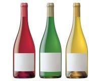 Bourgognevinflaskor. Vektorillustration Arkivbilder