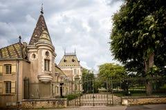 Bourgondië, Chateau Corton Charlemagne frankrijk stock afbeeldingen