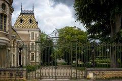 Bourgondië, Chateau Corton Charlemagne frankrijk stock fotografie