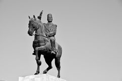 Bourguiba statue. On his horse in la Goulette Stock Photography
