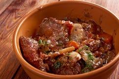 Bourguigno βόειου κρέατος Στοκ Φωτογραφίες