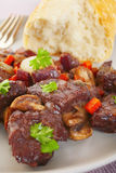 Bourguignon Stew French Food Plate Plated de la carne de vaca de Borgoña Foto de archivo