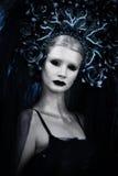Bouringsmeisje in zwart-wit royalty-vrije stock foto
