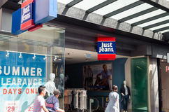 Bourke街的,墨尔本牛仔裤商店 图库摄影