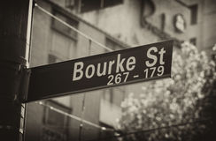 Bourke gata Arkivfoto