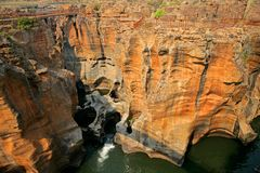 Bourke's Luck Potholes. In the Blyde river, Mpumalanga, South Africa Royalty Free Stock Photos