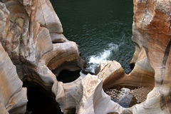 Bourke's Luck Potholes. Unusual rock formations in the Blyde River Canyon (the third biggest canyon in the world Stock Image