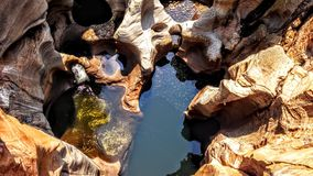 Bourkes Luck Potholes. Beautiful curved potholes in Burke& Luck – Mpumalanga South Africa Stock Photography