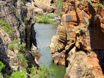 African landscapes. Bourke`s potholes near the Blyde river canyon , South Africa Stock Photo