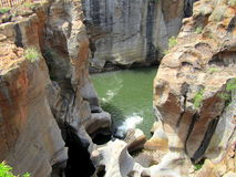 African landscapes. Bourke`s potholes near the Blyde river canyon , South Africa Stock Image