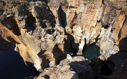 Bourkes luck. Potholes in South Africa near the Blyde River Canyon Royalty Free Stock Image