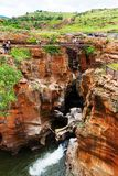 Bourkes Luck Potholes canyon scenery, South Africa. Bourkes Luck Potholes canyon scenery, Motlatse Canyon Provincial Nature Reserve, South Africa stock image