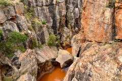 Bourkes luck potholes in Mpumalanga Royalty Free Stock Images