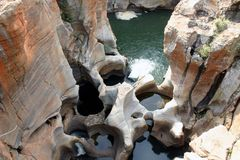 Bourkes Luck Potholes / River Gorge. This is an image of Bourkes Luck Potholes in the Mpumalanga region of South Africa royalty free stock photo