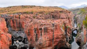 Bourkes Luck rde Potholes South Africa.18 September 2017 stock photography