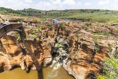 Bourkes szczęścia wybojów krajobrazowy widok, Południowa Afryka Fotografia Stock