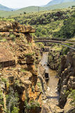 Bourkes szczęścia wybojów krajobrazowy widok, Południowa Afryka Zdjęcia Royalty Free