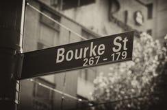 Bourkestraat Stock Foto
