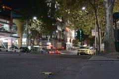 Bourkestraat bij nacht royalty-vrije stock afbeelding