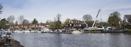 Bourne End Marina on Thames Royalty Free Stock Photo
