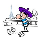 Bourne Frenchman cartoon Stock Photo