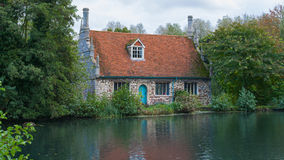 Colchester Essex UK Old Mill beside pond Royalty Free Stock Image