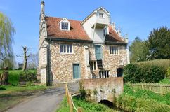Bourne Mill from the Road Royalty Free Stock Photo